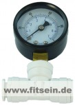 Manometer Rohrfelder,  0 - 10 Bar , 1/4  Axial